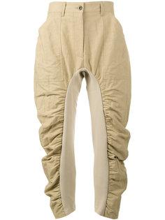 укороченные брюки со сборками Stella McCartney