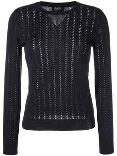 свитер ажурной вязки Annabelle A.P.C.