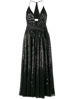платье в пайетках с глубоким вырезом Racil