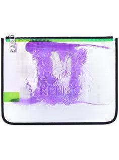 клатч с абстрактным принтом Kenzo