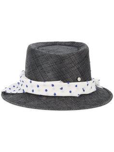 шляпа Ed с лентой в горошек Maison Michel