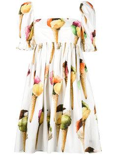платье с принтом мороженного Dolce & Gabbana