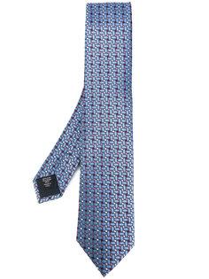 галстук с геометрическим принтом Ermenegildo Zegna