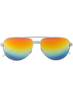 радужные солнцезащитные очки-авиаторы Saint Laurent