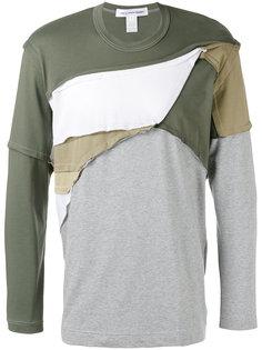 футболка лоскутного кроя Comme Des Garçons Shirt