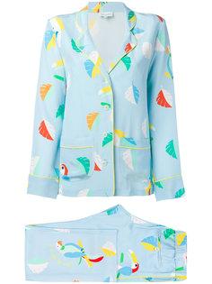 printed bird pyjama Mira Mikati