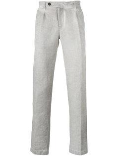 брюки прямого кроя с линялым эффектом Massimo Alba