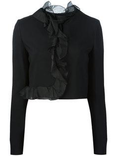 приталенный укороченный пиджак  Giambattista Valli