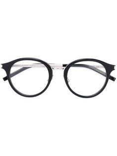 очки в круглой оправе Saint Laurent