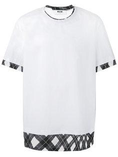 футболка с контрастной окантовкой  MSGM