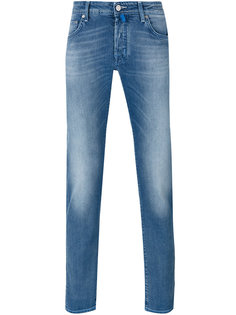 джинсы кроя слим с потертой отделкой Jacob Cohen