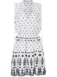 расклешенное платье со сплошным узором Derek Lam 10 Crosby