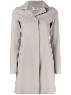 классическое однобортное пальто Herno