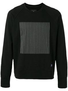 striped block print sweatshirt Rag & Bone