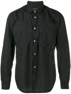 рубашка с крестом и мятым эффектом Comme Des Garçons Homme Plus
