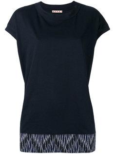 футболка  с комбинированным принтом Marni