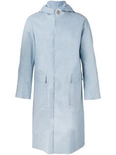 long hooded raincoat  Mackintosh