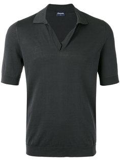 футболка-поло с открытой горловиной Drumohr