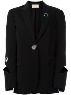 пиджак с вырезными деталями и люверсами Christopher Kane