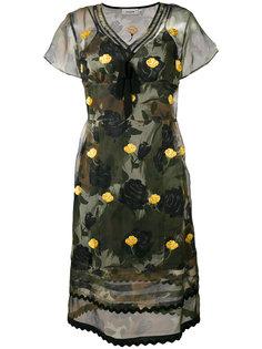 платье с цветочным принтом  Coach