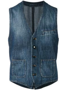 выбеленный джинсовый жилет Lardini