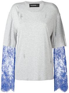 Ashley lace sleeve layered T-shirt Filles A Papa