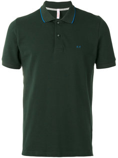 футболка-поло с контрастным воротником  Sun 68