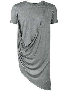 футболка с асимметричной драпировкой  Unconditional