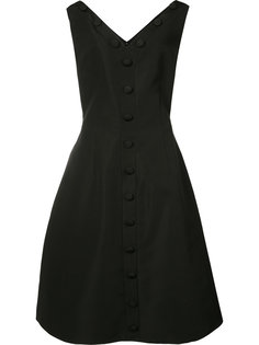 button front pleated dress Christian Siriano