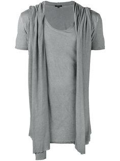драпированная футболка с капюшоном Unconditional