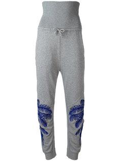 брюки с завышенной талией и вышивкой Stella McCartney