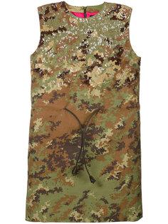 камуфляжное платье мини с пайетками Dsquared2
