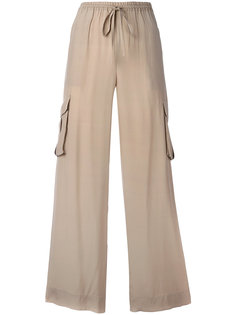 брюки-палаццо с карманами карго  P.A.R.O.S.H.