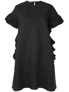 платье с оборками  Rochas