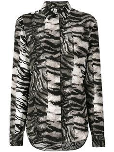 блузка с рисунком под зебру Saint Laurent