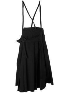 юбка со складками и подтяжками  Ys Y`s
