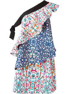 многоярусное платье с цветочным узором Miahatami