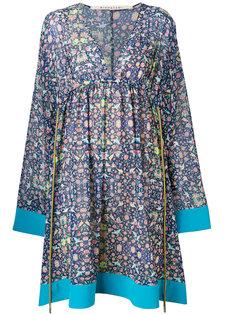 платье с завышенной талией и цветочным принтом Miahatami