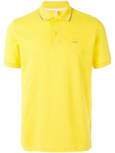 футболка-поло с контрастным логотипом Sun 68