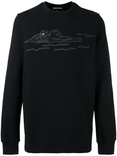 embroidered crocodile sweatshirt Markus Lupfer