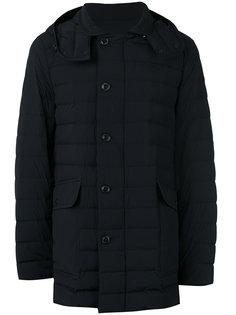 дутое пальто с капюшоном  Moncler