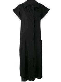 open neck shirt dress Yohji Yamamoto