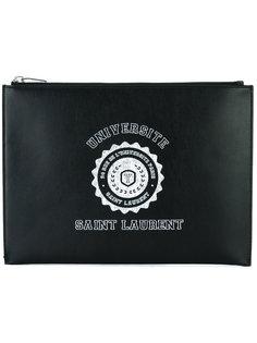 клатч с логотипом  Saint Laurent