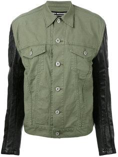 куртка с рукавами из искусственной кожи Junya Watanabe Comme Des Garçons