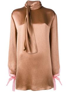 блузка с завязками на шее Valentino