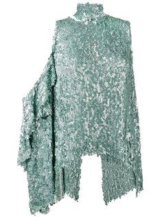 топ на одно плечо декорированный пайетками Magda Butrym