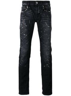 джинсы с принтом брызг краски Les Hommes