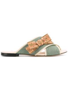 сандалии с бантом Fendi