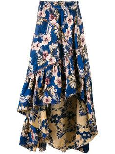 асимметричная юбка с цветочным принтом  Philosophy Di Lorenzo Serafini