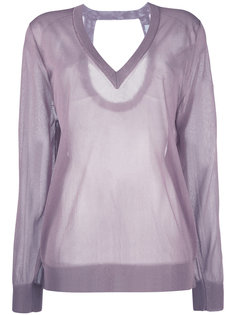 sheer v-neck top Christian Wijnants